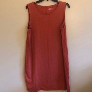 Eileen Fisher Orange Cotton Tank Dress